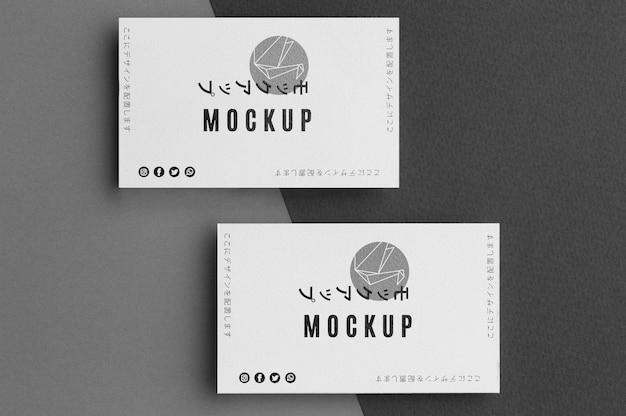 Plat lag visitekaartje mock-up arrangement Gratis Psd
