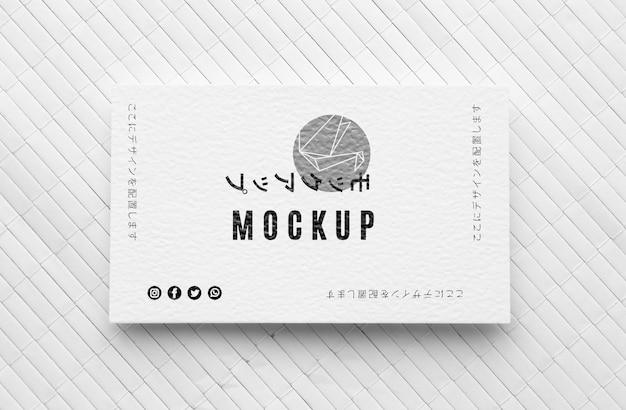 Plat lag visitekaartje mock-up assortiment Gratis Psd