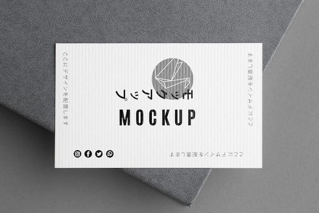 Plat lag visitekaartje mock-up samenstelling Gratis Psd