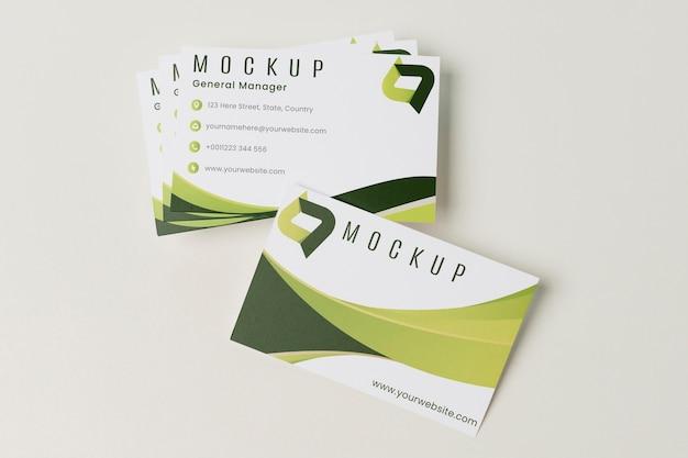 Plat leggen visitekaartjes mock-up Premium Psd