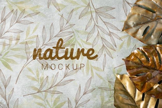 Plat van skincare natuur mock-up Gratis Psd
