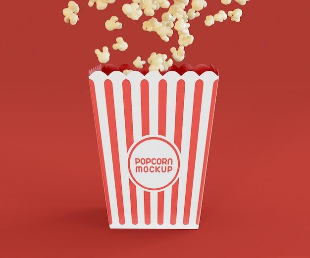 Popcorn box mockup Gratis Psd