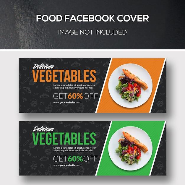 Portada de facebook de alimentos PSD Premium