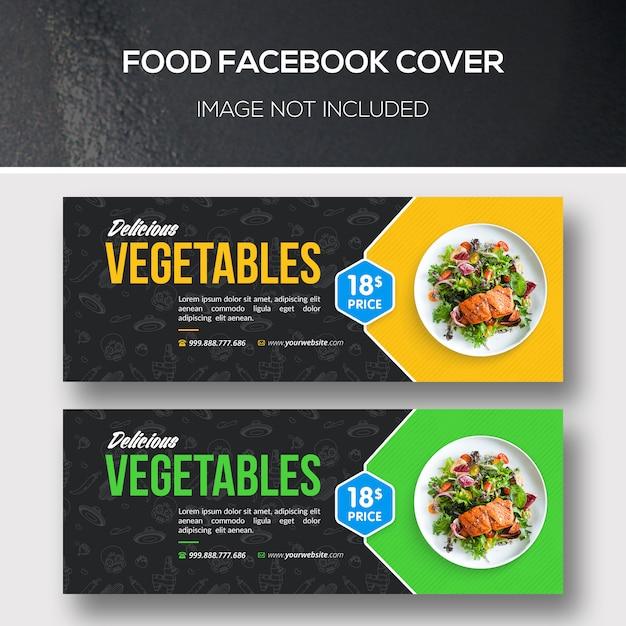 Portada de facebook de comida PSD Premium