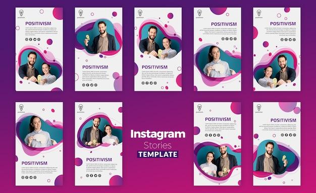 Positivisme concept instagram verhalen sjabloon Gratis Psd