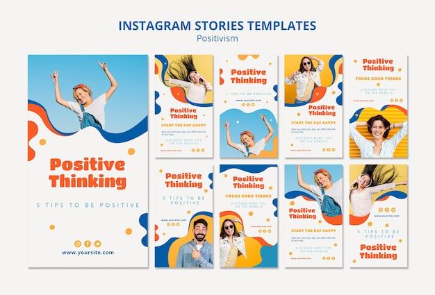 Positivisme concept instagramverhalen Gratis Psd