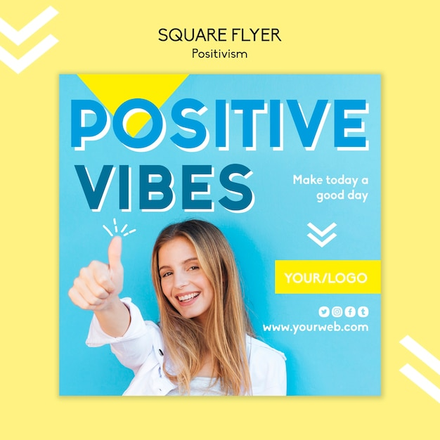 Positivisme flyer sjabloon concept Gratis Psd