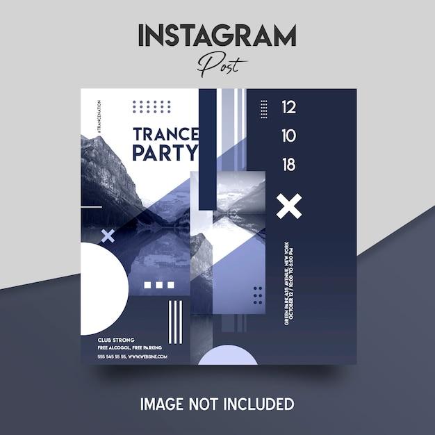 Post di instagram sui social media Psd Premium