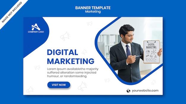 Post di social media marketing digitale e banner web Psd Premium