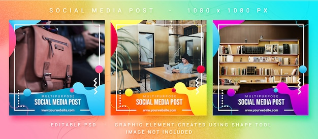 Post multiuso sui social media Psd Premium