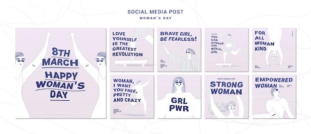 Post sui social media per la festa della donna Psd Gratuite