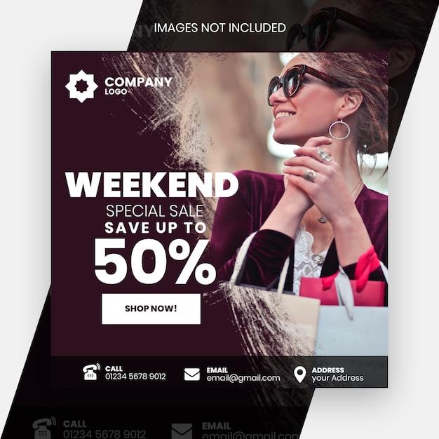 Posta di moda Psd Premium
