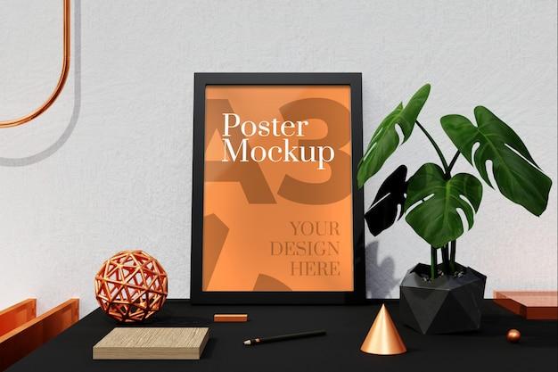 Poster a3 e mockup di cornici per foto Psd Premium