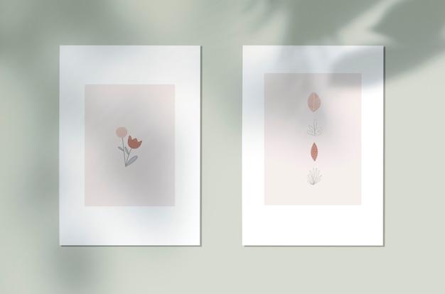 Póster de diseño botánico de estilo. PSD gratuito