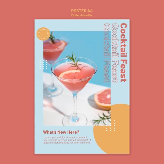 Poster juice bar sjabloon Gratis Psd