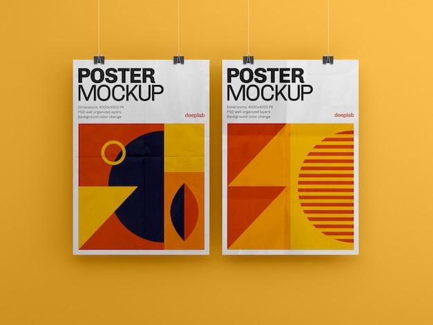 Poster met bewerkbaar premium achtergrondmodel Premium Psd