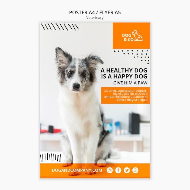 Poster met veterinair concept Gratis Psd