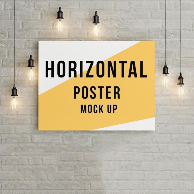 Poster mock up modelo Psd grátis