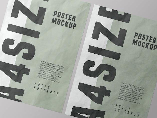 Poster mockup design psd Gratis Psd