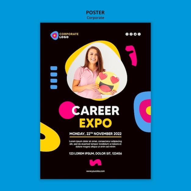 Poster sjabloon voor creatieve corporate team Gratis Psd