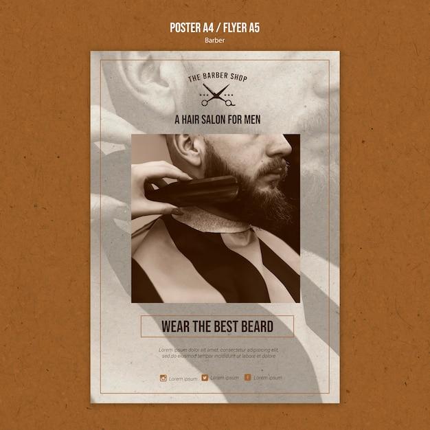 Poster sjabloon voor kapper Gratis Psd