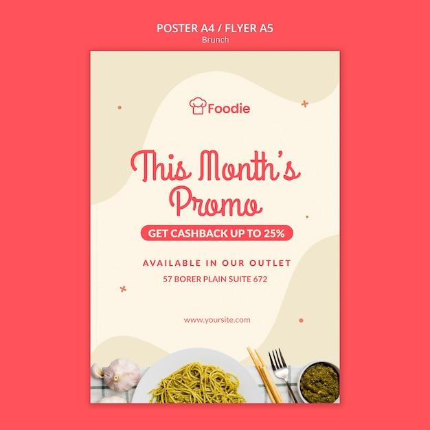 Poster sjabloon voor restaurant Gratis Psd