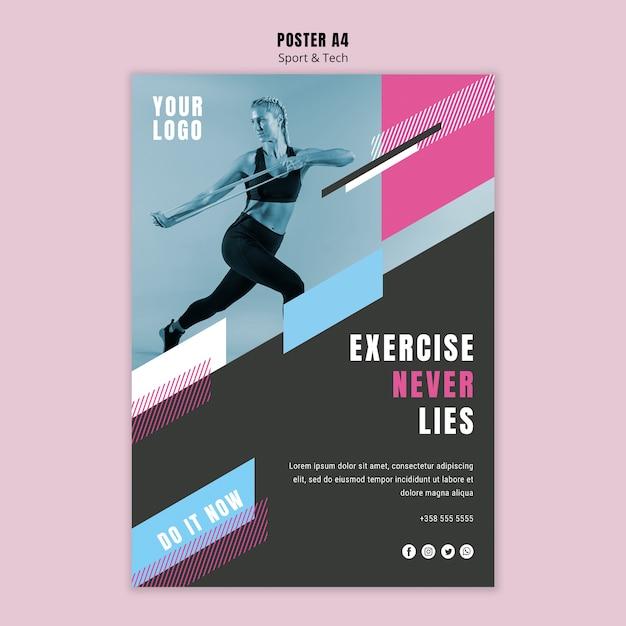 Poster sjabloon voor sport en fitness Gratis Psd