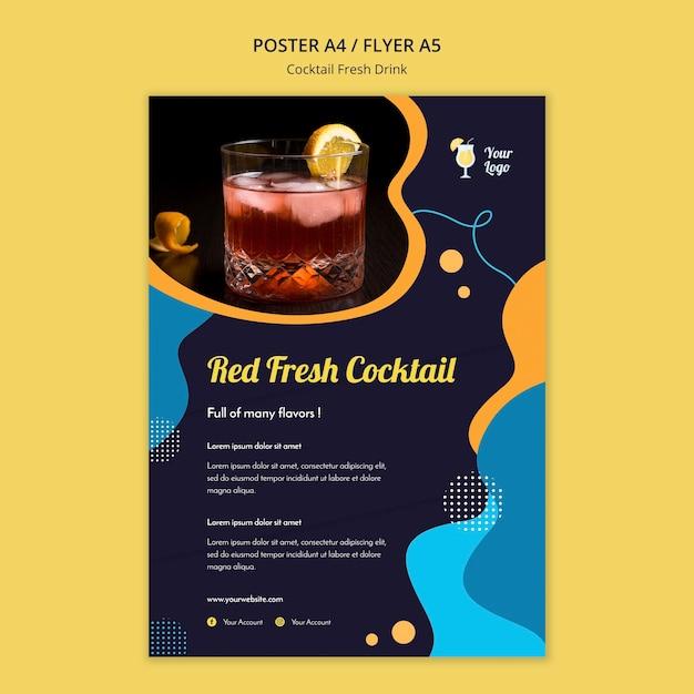 Poster sjabloon voor verschillende cocktails Gratis Psd