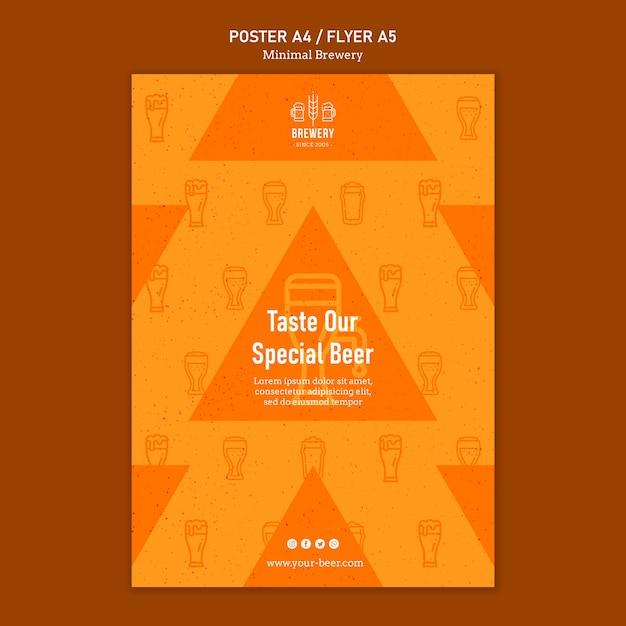 Poster voor bierproeverij Gratis Psd