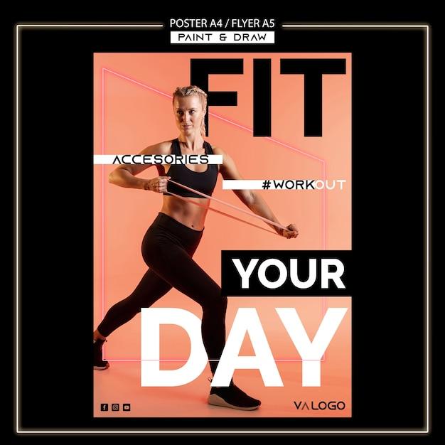 Poster voor fitnesstraining Gratis Psd