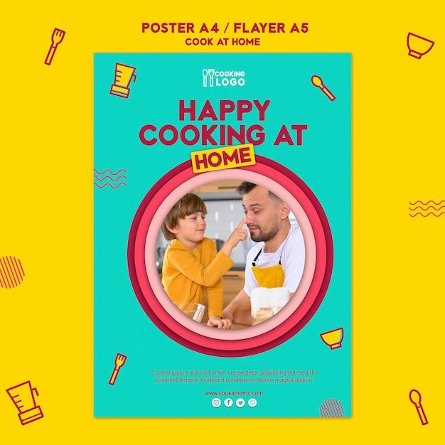 Poster voor thuis koken Gratis Psd