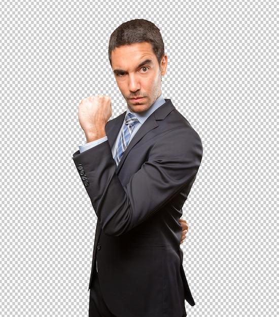 Potente giovane uomo d'affari Psd Premium