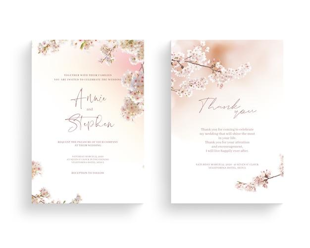 Prachtige lente bloem frame, uitnodiging, trouwkaart, dank groet, Premium Psd