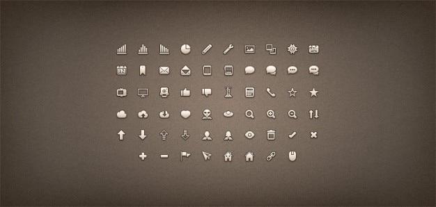 Premie pixels icon set png csh psd Gratis Psd