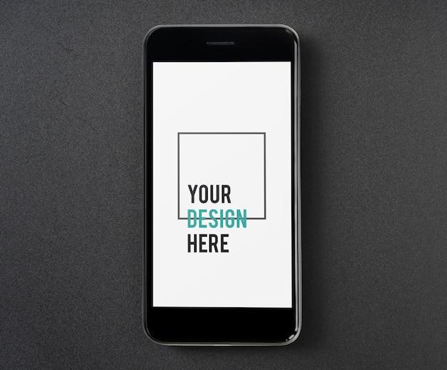 Premium mockupsjabloon voor mobiele telefoon Gratis Psd