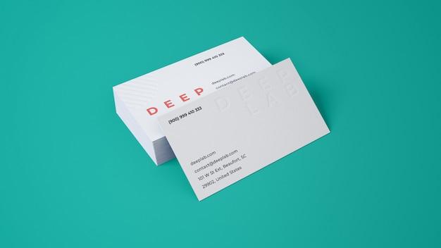 Premium visitekaartje met bewerkbaar achtergrondkleurmodel Premium Psd