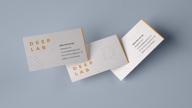 Premium visitekaartje mockup Premium Psd