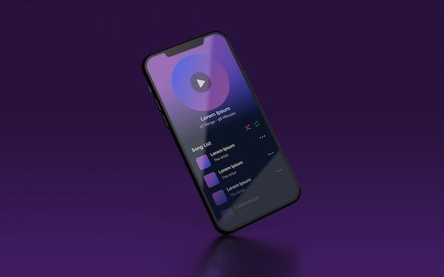 Presentación de ui smartphone maqueta psd PSD Premium