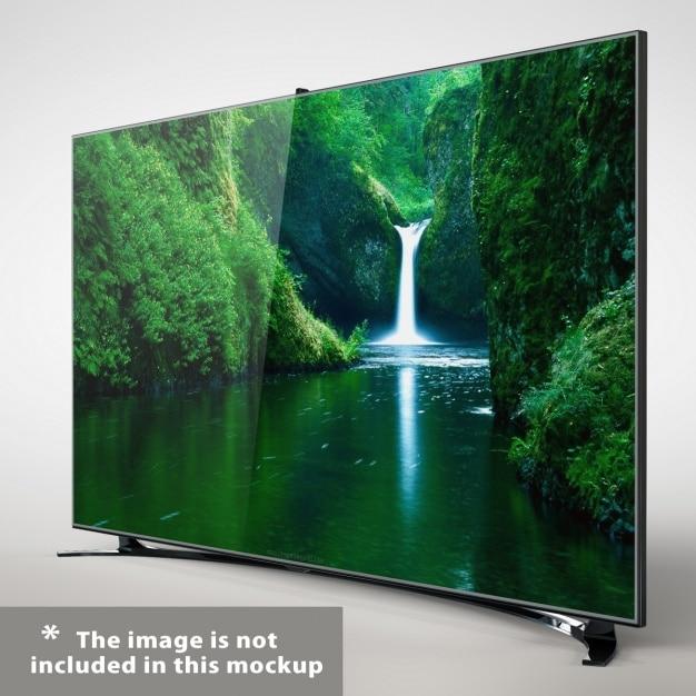Presentazione televisione realistica Psd Gratuite