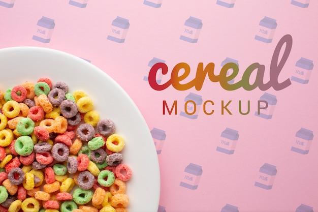 Primer tazón con cereales para el desayuno PSD gratuito