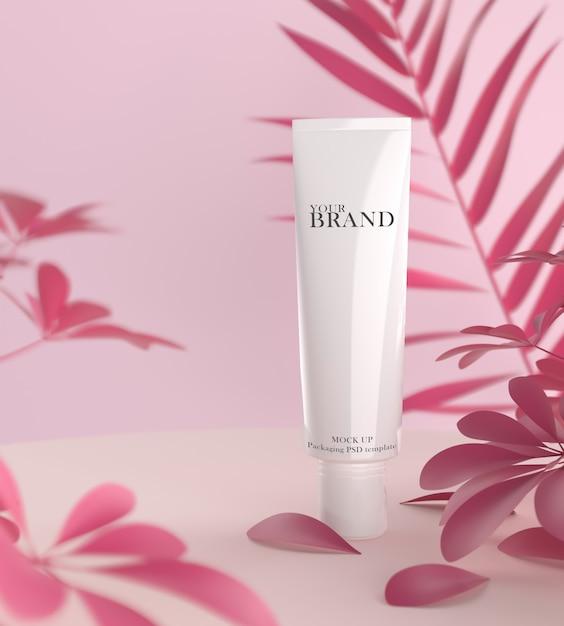 Prodotti cosmetici premium idratanti per la cura della pelle Psd Premium