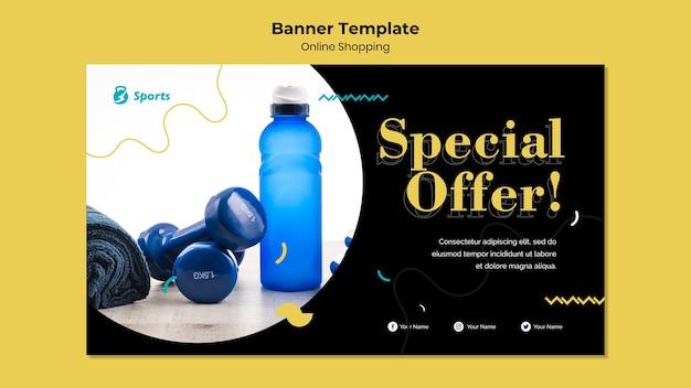 Progettazione di banner per lo shopping online Psd Gratuite