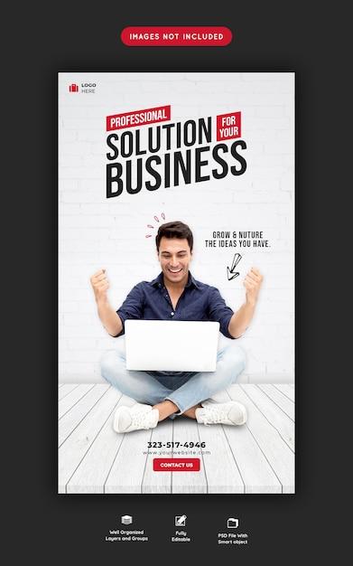 Promoción empresarial y plantilla de historia corporativa de instagram PSD gratuito