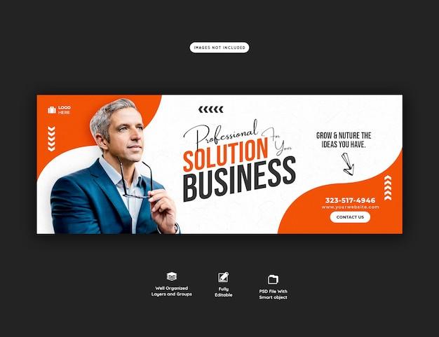Promoción empresarial y plantilla de portada corporativa de facebook PSD gratuito