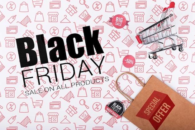 Promotie zwarte vrijdag campagne Gratis Psd