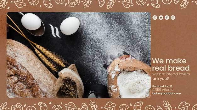 Promotiecampagne voor bakkerijbedrijven Gratis Psd