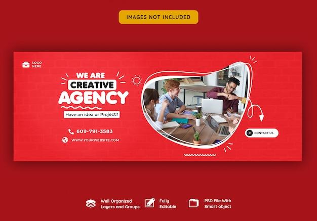 Promozione aziendale e modello di copertina creativo di facebook Psd Premium