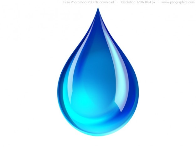 Psd blauw waterdruppel icoon Gratis Psd