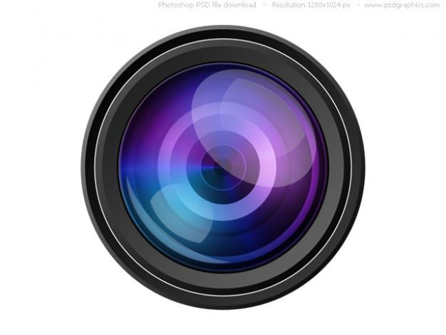 Psd c mera com lente cone download psd gratuito for Camera gratis