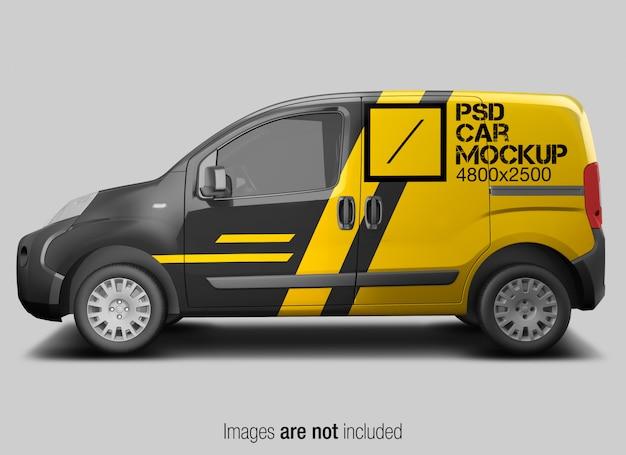 Psd car mockup vista laterale Psd Premium